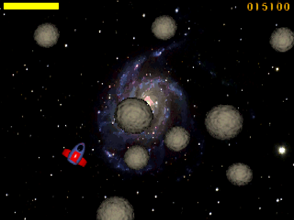 ASTROIDS game screenshot